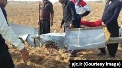 نخستین تصاویر از پهپاد سقوط کرده