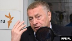 Ռուսաստան -- Վլադիմիր Ժիրինովսկին «Ազատություն» ռադիոկայանի մոսկովյան ստուդիայում, Մոսկվա, 13-ը հոկտեմբերի, 2009թ.