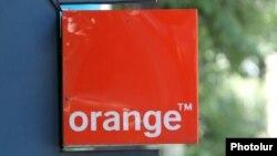 Armenia - A street ad of the Orange Armenia mobile phone operator, Yerevan, 22Jul2015.