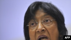 The UN's high commissioner for human rights, Navi Pillay