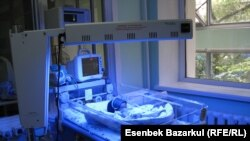 Kazakhstan - A newborn baby with a congenital heart defect, which is in intensive care maternity hospital № 1 in Almaty, 4Aug2010