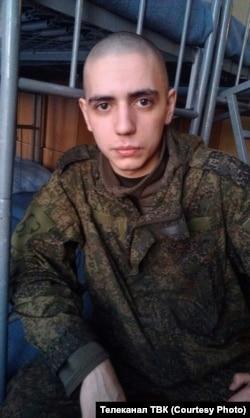 Артем Пахотин во время срочной службы. Декабрь 2017 года