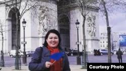 Живущая во Франции этническая казашка Жазира Есбергенова.