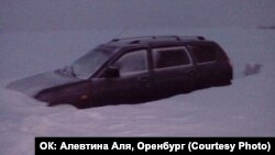 Russia -- frozen cars in Russia, Siberia, Orenburg