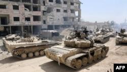 Cириянын армиясы Дума шаарында. 8-апрель, 2018-жыл.