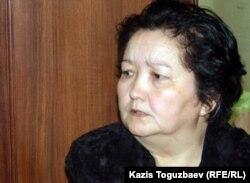 Жолан Абиева, мать Аманкоса Абиева, раненного 16 декабря 2011 года на площади Жанаозена.