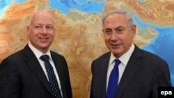 جیسون گرینبلات (چپ) در یکی از دیدارهایش با بنیامین نتانیاهو، نخستوزیر اسرائیل.