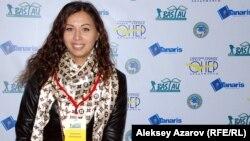 Участница кинофестиваля Светлана Скорина из Казахстана. Алматы, 22 октября 2014 года.