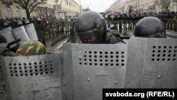 Բելառուս - Ոստիկանները Մինսկի կենտրոնում, 25-ը մարտի, 2017թ․