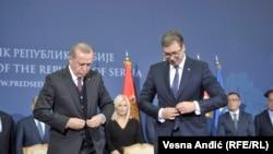 R.T.Erdoğan və A.Vucic