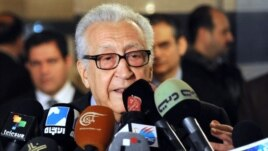 International peace envoy Lakhdar Brahimi gives a press conference in Damascus, 27Dec2012