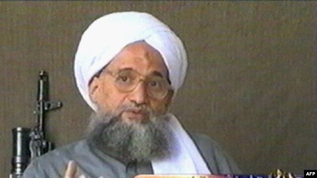 A video grab from 2006 from l-Jazeera shows Al-Qaeda's Ayman al-Zawahri.