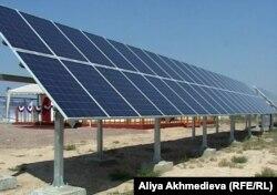 Солнечная электростанция в селе Сарыбулак.