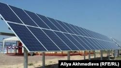 Kazakhstan – Solar power plant. Almaty region, village Sarybulak, 22Jun2012.