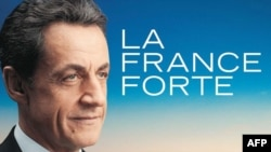 Poster de campanie cu Nicolas Sarkozy