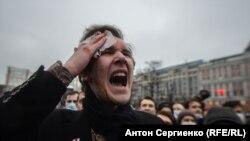 Pamje nga protestat e 23 janarit në Moskë.