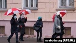 Марш мудрасьці ў Горадні ў сьнежні 2020 году.