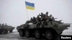 Ուկրաինական բանակի զինծառայողները Լուգանսկի մարզում, արխիվ