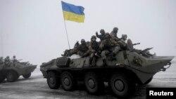 Луганск облысындағы украин әскері. Украина, 28 қаңтар 205 жыл.