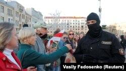 Belarus protestçileri. Minsk, 28-nji awgust, 2020