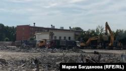 "Площадка под снесенным ТРЦ ""Зимняя вишня"" в Кемерове"