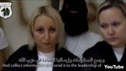 Corina Coltsa (left) of Moldova and Svyatlana Markiyanovich of Belarus said they were abducted by Syrian rebels.