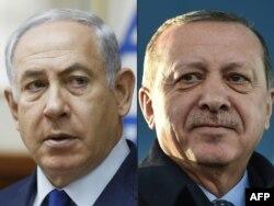 Израилдин премьер-министри Биньямин Нетаняху менен түрк президенти Режеп Тайип Эрдоган