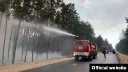 За попередніми оцінками, вигоріло близько п'яти тисяч гектарів лісу, додали в ОДА