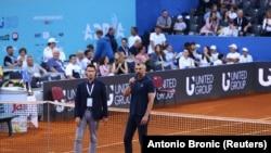 Đorđe Đoković, brat srpskog tenisera Novaka, i Goran Ivanišević na Adria Touru u Zadru, 21. jun 2020.