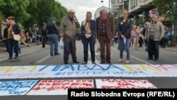 macedonia - Anti-government protests in Skopje, Painted revolution.