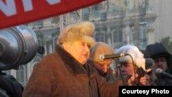 Марина Салье на митинге в Петербурге