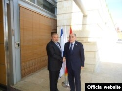 Ministri Avgdor Liberman i Milan Roćen u Izraelu, 23. novembar 2011.