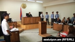 Armenia -- The trial of men accused of beating to death Vahe Avetian, 30Nov2012.