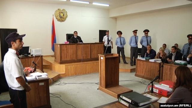 Armenia -- The trial of men accused of beating to death Vahe Avetian, 30Nov2012.