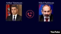Armenia -- A screenshot from YouTube audio of wiretapped conversations between Nikol Pashinian and Arthur Vanetsyan, Yerevan, 5Dec2018