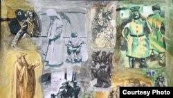Сүрөтчү Ю.Шыгаевдин 1916-жылкы көтөрүлүш тууралуу түрмөгүнөн. 12.2.2016.