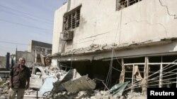 Здание магазина алкогольной продукции после взрыва. Багдад, 18 октября 2011 года. Иллюстративное фото.