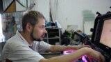 Владимир Кит за мобильной студией в Запорожье
