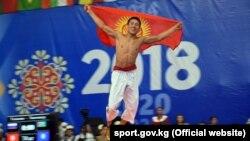 Соревнования по кыргыз курош на Всемирных играх кочевников. 5 сентября 2018 года.