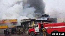 Пожар на Ошском рынке.