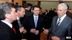 Борис Тадиќ и македонскиот политички врв, Скопје 2009