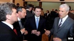 Аривска фотографија: Македонскиот државен врв и претседателот на Србија Борис Тадиќ.