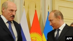 Беларусь президенті Александр Лукашенко мен Ресей президенті Владимир Путин.