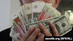 Uzbekistan - uzbek national currency sum and US dollar