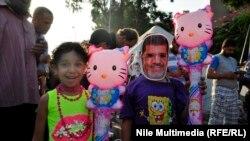 احتفالات مؤيدي مرسي بعيد الفطر في القاهرة