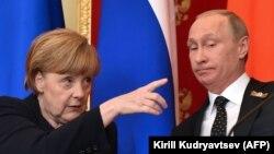 Ангела Меркел һәм Владимир Путин