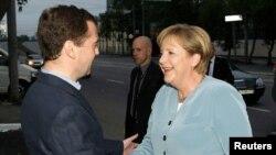 Очередная встреча Ангелы Меркель и Дмитрия Медведева
