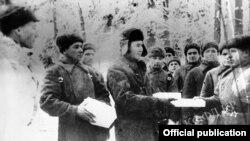 Кызыл армиянын жоокерлери