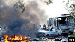 Pamje të një sulmi të mëparshëm në Izmir