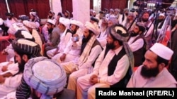 Local political leaders' gathering over security concerns in Khost.